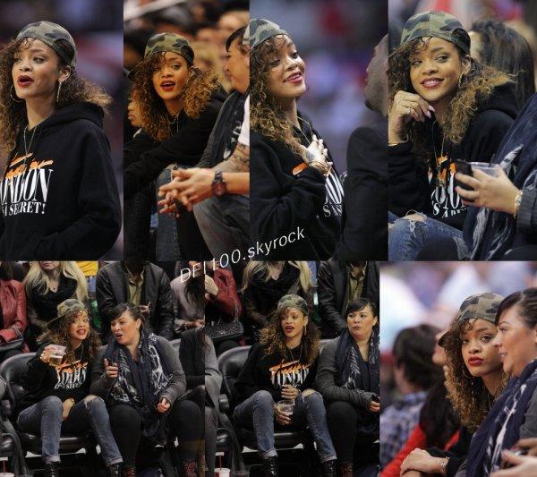 Le:11/01/12       Rihanna assiste au match de basket des Los Angeles Clippers à Los Angeles