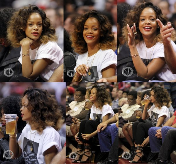 26/01/12            Rihanna assistant à un match de basket à Los Angeles