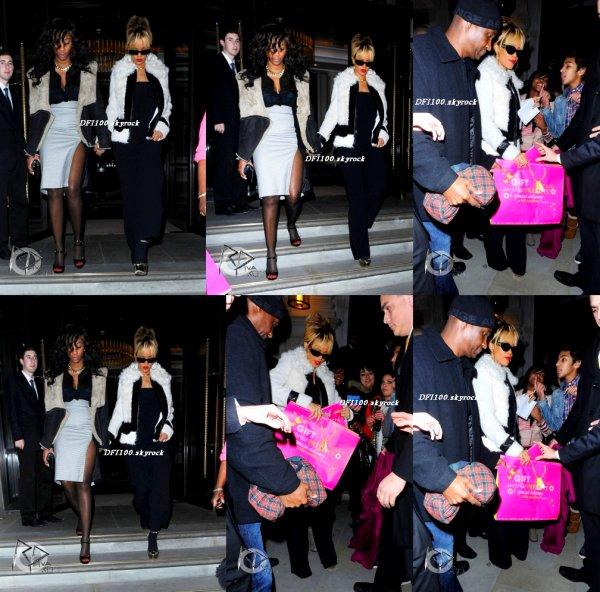 20/02/12                 Rihanna quitte son hôtel dans la soirée à Londres