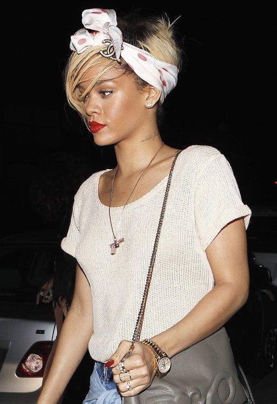 """Rihanna au restaurant """"Giorgo Baldi"""""""