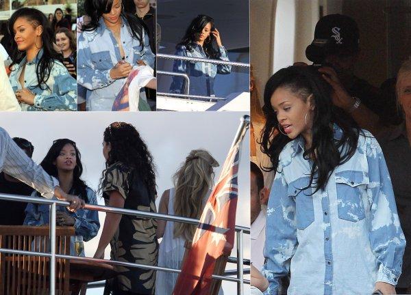 Rihanna sur un yatch à Sydney