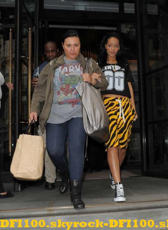 Rihanna de sortie à Londres