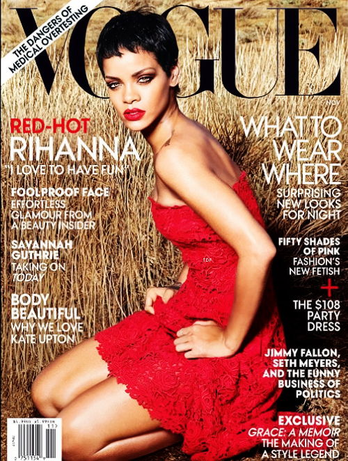 """Rihanna en couverture du """"Vogue"""" américain"""