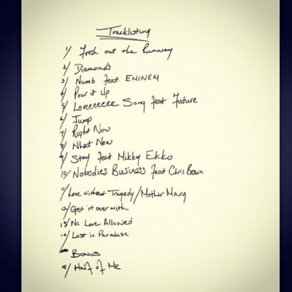 """Unapologetic"" la tracklist officiel"