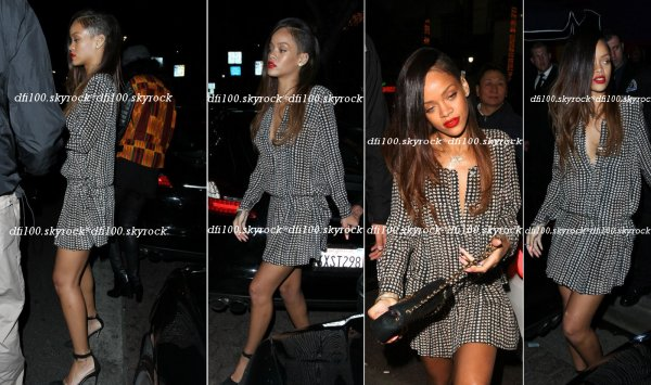 Rihanna accompagnée de Melissa au club « My Studio » à Los Angeles