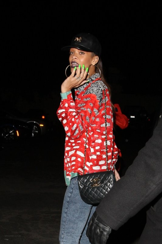 Rihanna au club « My Studio » à Los Angeles
