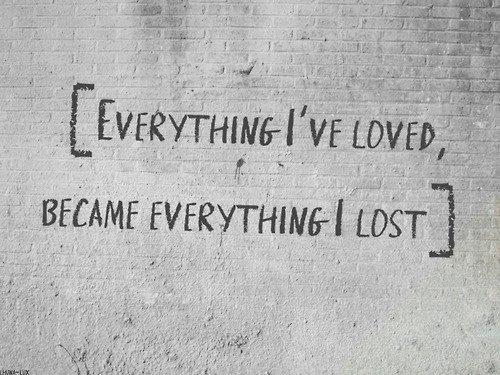 J'ai perdu beaucoup en quelques années