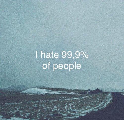 Je ne supporte pas la présence humaine