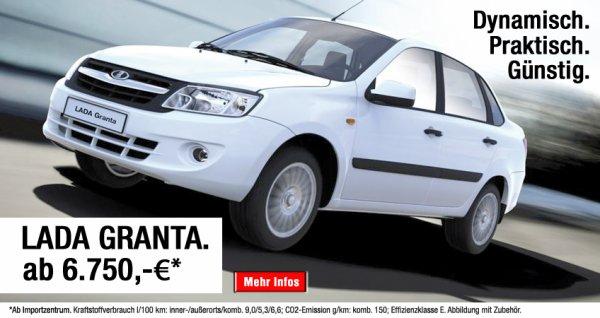 La LADA GRANTA Sedan est désormais la voiture la moins chère en Allemagne !!!