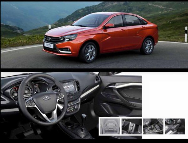 Nouvelles images de la LADA VESTA Sedan et reconnaissance hongroise !!!