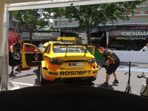 """WTCC au Portugal : LADA Sport Rosneft dans le """"Top 5"""" du test, malgré le lest !!!"""