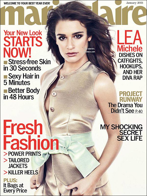 . Nouveau photoshoot de Lea Michele qui a posé pour le magazine « Marie-Claire ». .
