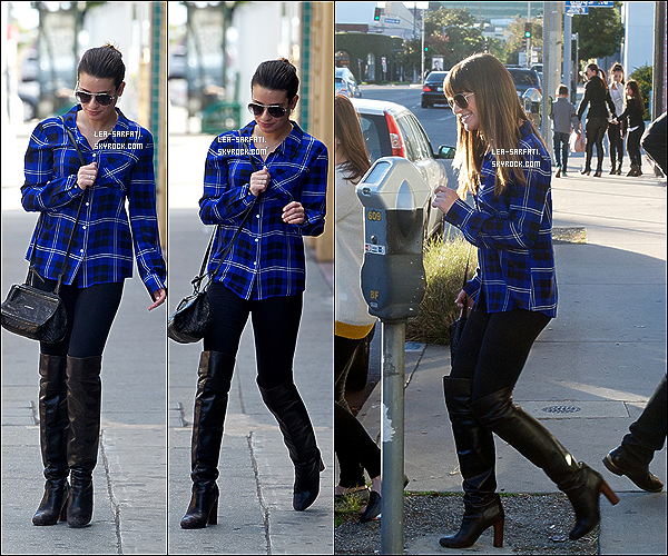 . 27/12/2012 : Lea et Edith (sa maman), ont été aperçues quittant un salon de beauté, à Los Angeles. .