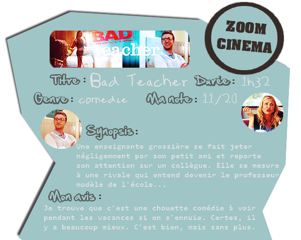 Zoom cinéma: Bad Teacher