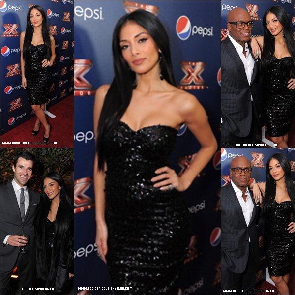 .  10/11/11 : Nicole, à la maison Pepsi avec Steve Jones et LA Reid !  .