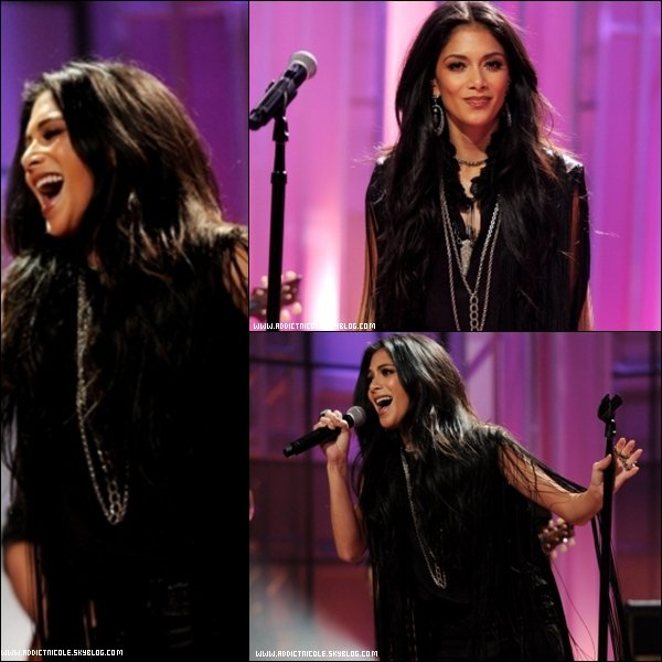 .  11/11/11 : Nicole a fait une performance sur « Don't Hold Your Breath » chez The Tonight Show with Jay Leno !  .