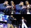 "18/11/10 Drake performant avec Trey Songz sur le "" OMG tour "" à Los Angeles"