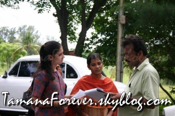 Tamana sur le tournage de Kallori