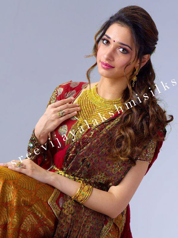 Tamanna for Sri Vijayalakshmi Silks & Rajan Jewellery 4