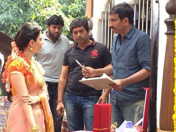 Sur le tournage de Aagadu