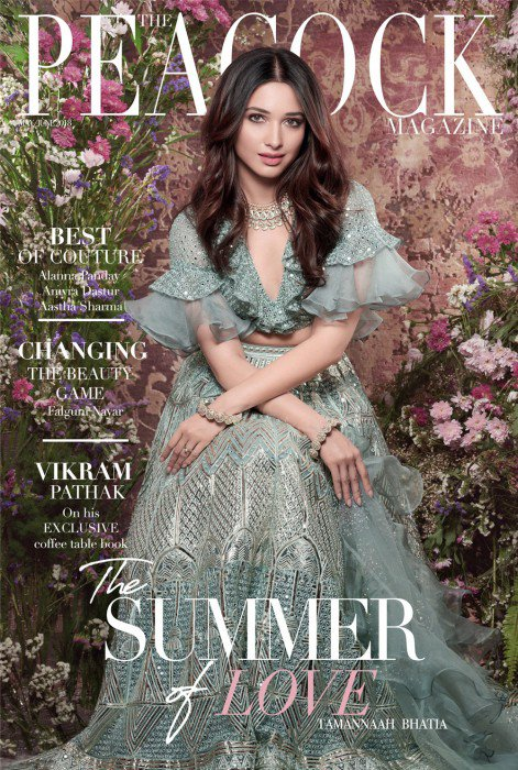 Tamanna In Peacock Magazine Cover Photoshoot