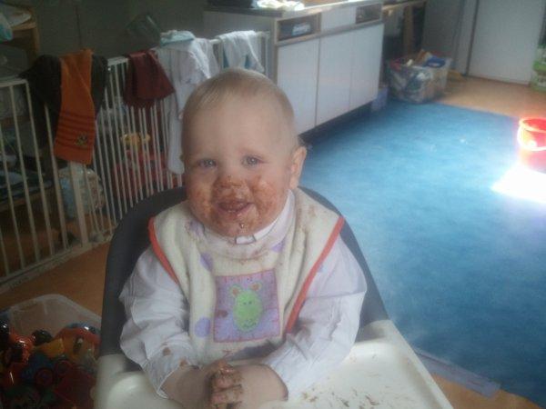Mathys quand il a mangé du chocolat ..