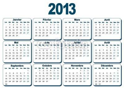 saison natation calendrier 2O12 2O13