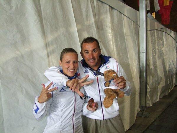 medaille de  bronze au 100m papillion s10