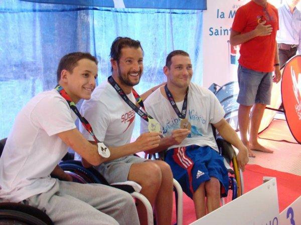 championnat de france  été à Saint-Malot 2016 podium du 200m  nage libre