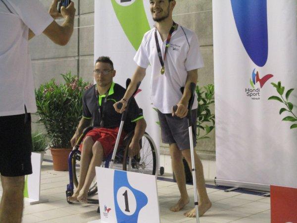 podium  du 50m  dos