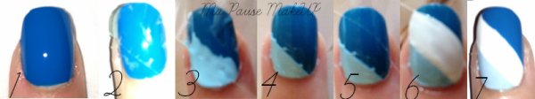 # Tuto Nail Art Bleu
