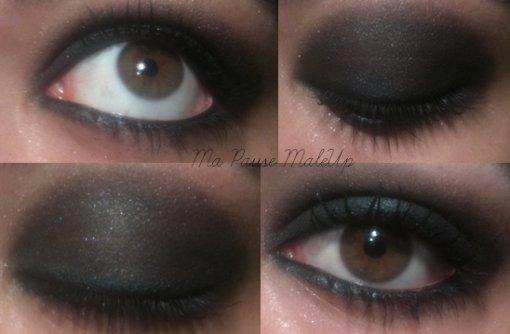 #  Maquillage yeux charbonneux