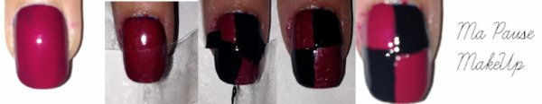# Tuto nail art rose/noir