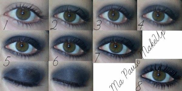 # Tutoriel maquillage yeux charbonneux