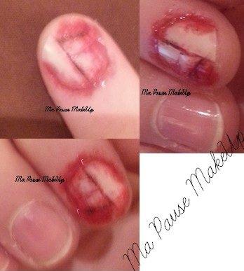 # Maquillage blessure - Ongle Cassé (1er essais ! )