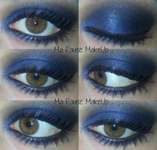 # Maquillage de soirée bleu