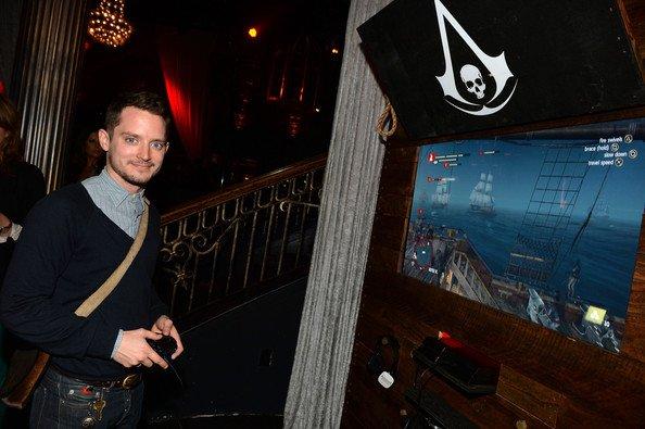 Creed IV Noir Parti de lancement du drapeau du Assasin