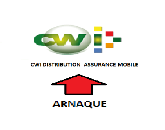 CWI DISTRIBUTION ASSURANCE MOBILE ATTENTION ARNAQUE