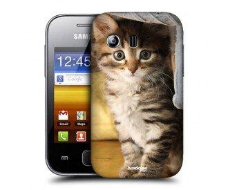 Coque de protection Samsung Galaxy Y S5360 design chat mignon ...
