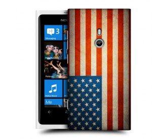 Coque de protection pour Nokia Lumia 800 design Drapeau Américain