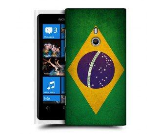 Coque de protection pour Nokia Lumia 800 design Drapeau Brésilien