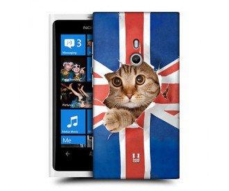 Coque de protection pour Nokia Lumia 800 design Drapeau Anglais Chat mignon