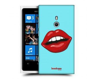 Coque de protection pour Nokia Lumia 800 design Bouche Rouge à Lèvres