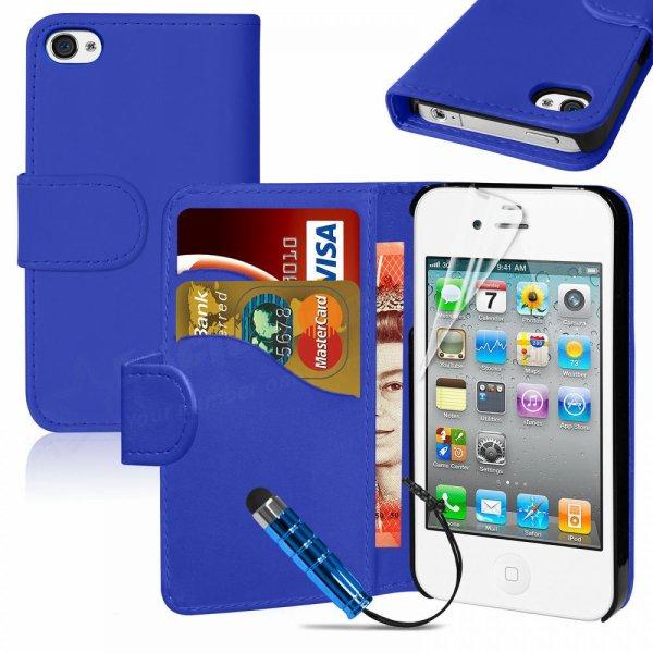 étui housse pochette iPhone 4 / 4S porte carte portefeuille