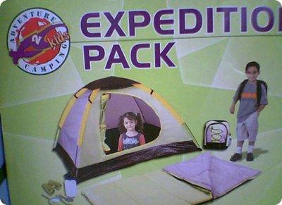 La première tente avec un trou dedans, pour aller sur l'île de LOST