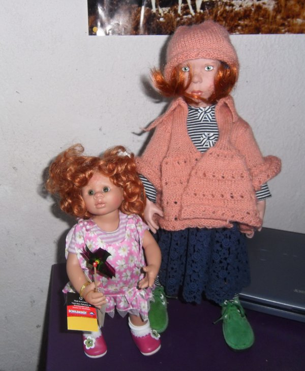 Ginger la grande , Mona la petite..