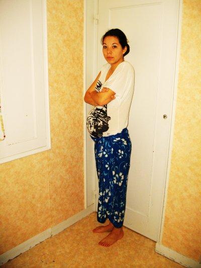 moi enceinte de 9 mois