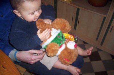 moi et le cadeau de papi Gilbert