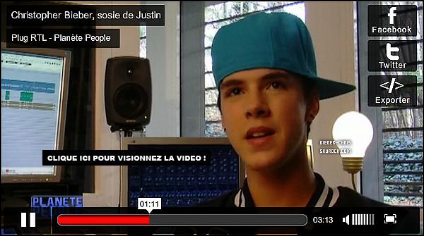 _  • Découvrez la vidéo de l'interview de Chris Bieber dans Planète People _ Plug RTL _