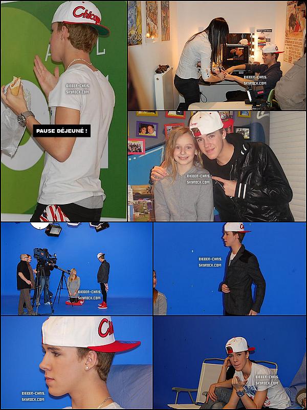 _  Photo avec une fan (Abby) + photos du tournage du nouveau clip de Chris Bieber !  _